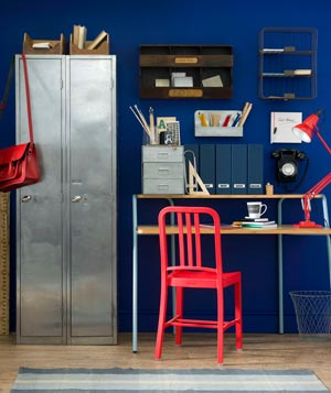 Blue home office Paint Blue Crush Real Simple 17 Surprising Home Office Ideas Real Simple