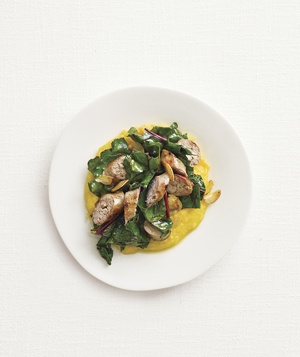 Sausage and Chard Sauté With Polenta
