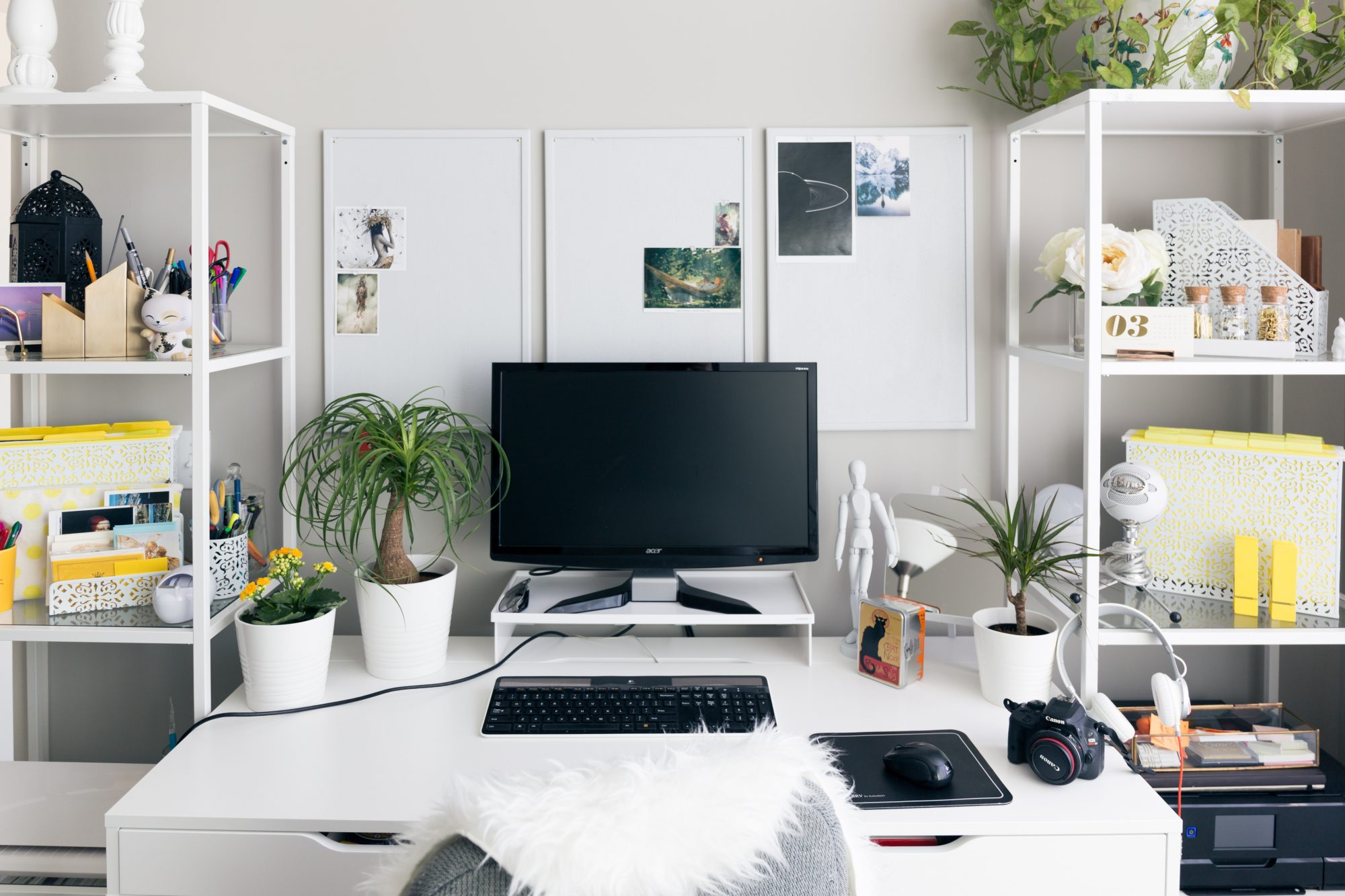 Office table for home Round White Home Office Mocka 17 Surprising Home Office Ideas Real Simple