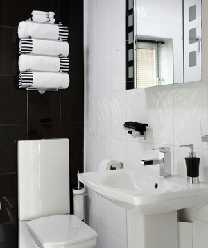 Bathroom Decorating Ideas Black And White contemporary bathroom decorating ideas black white and red even