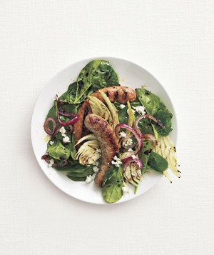 Grilled Sausage and Fennel Salad