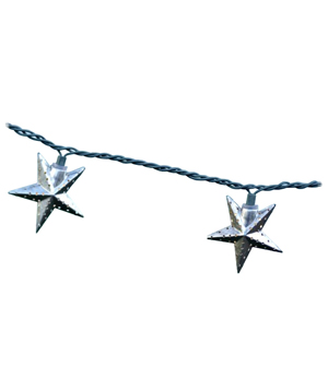 Galvanized Metal Star String Lights
