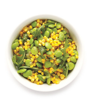 Sauteed Corn and Lima Beans