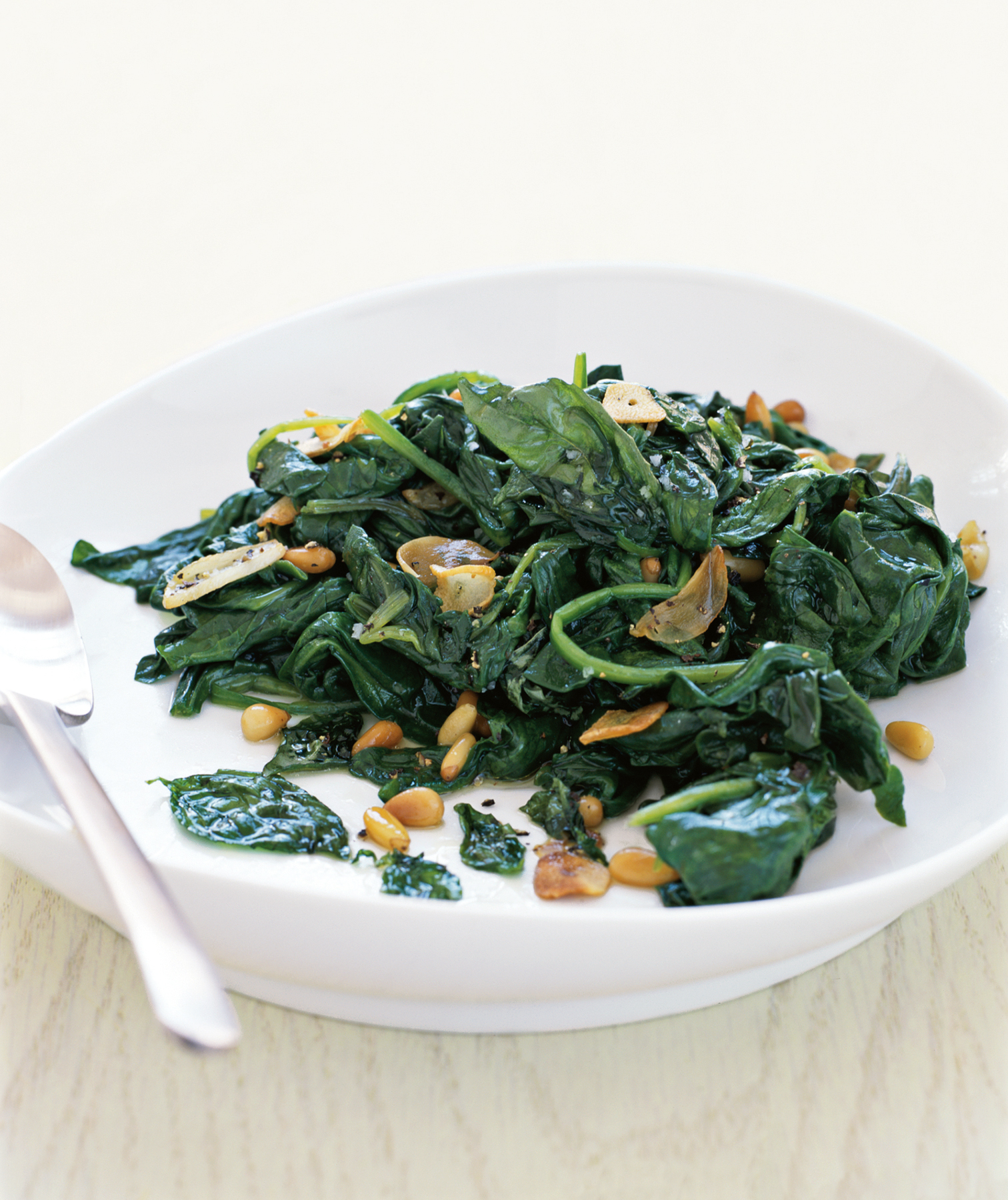 Sauteed Spinach With Basil