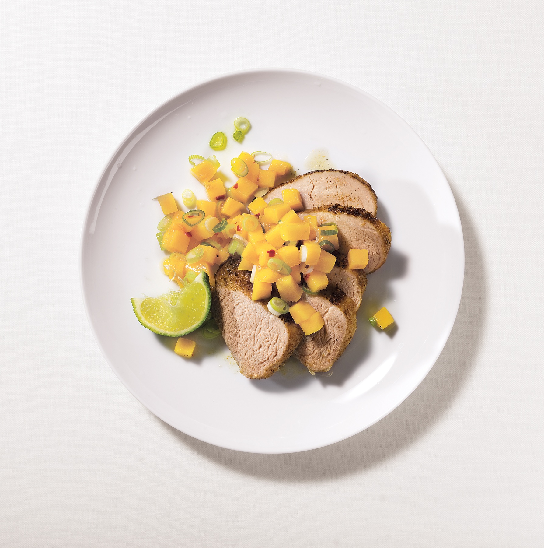 Caribbean Tenderloin With Mango Salsa