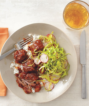 Slow-Cooker Chipotle Short Ribs With Tangy Cabbage Slaw