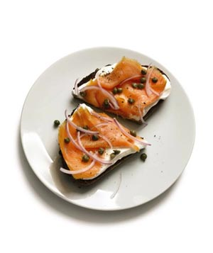 Toast With Yogurt and Smoked Salmon