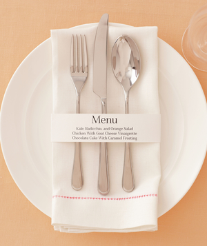 15-Minute Place Settings for a Party - Real Simple