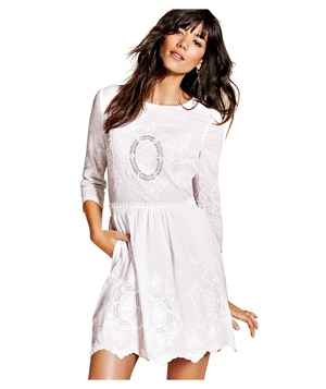 Victoria's Secret Battenburg Lace-Inset Dress