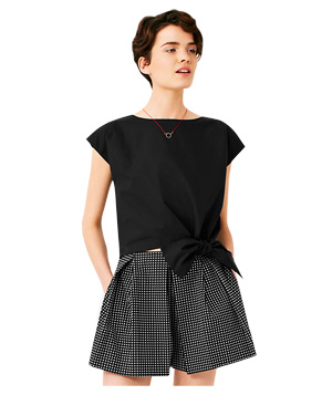 Kate Spade Saturday Crop-Tie Top