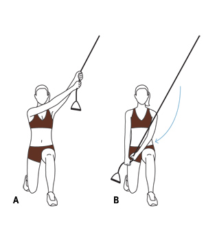Illustration - Half kneel with chop exercise