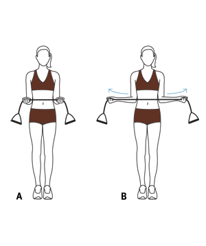 Illustration - Shoulder rotations exercise