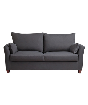 Luxe sofa frame and Charcoal Luxe slipcover