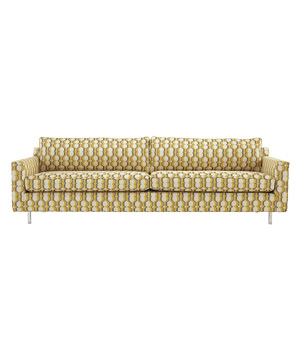 Hunter Metal Leg sofa in Gridlock-Marigold