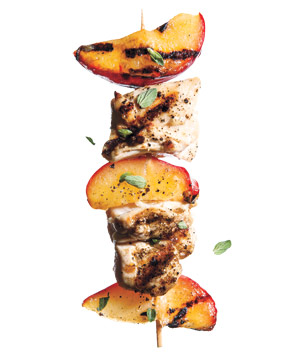 Plum and Oregano Chicken Kebabs