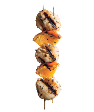 Rosemary and Orange Scallop Kebabs