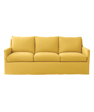 Spruce Street sofa in Lemon linen