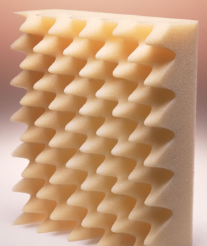 Piece of polyurethane foam