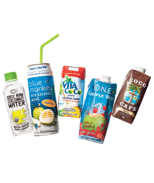 5 varieties of coconut water