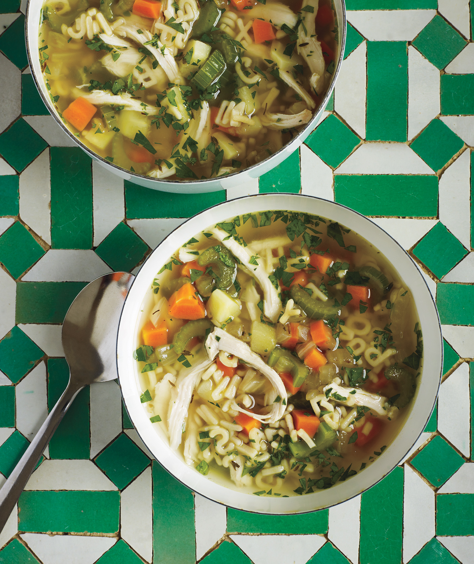 Lemony Chicken Noodle Soup (make ahead family)