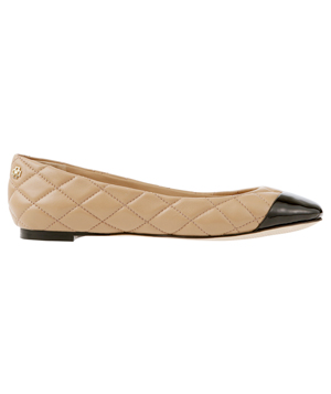 Ann Taylor Laddy Quilted Leather Cap Toe Flats