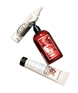 Group of products for red hair