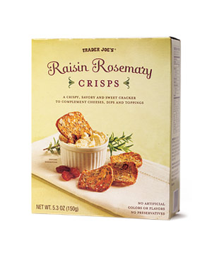 Trader Joe's Raisin Rosemary Crisps (box)