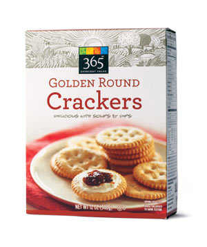 Whole Foods 365 Everyday Value Golden Round Crackers (box)