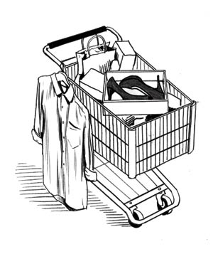 Illustration of shopping cart