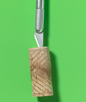 Cork as Utility Knife Cap