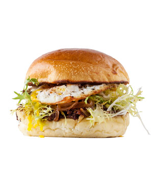 Egg, Frisée, and Caramelized Onion Sandwich