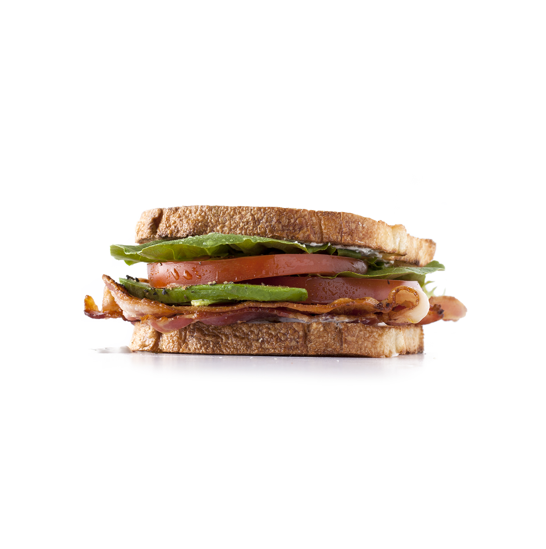 Tomato, Bacon, and Garlic Mayo Sandwich