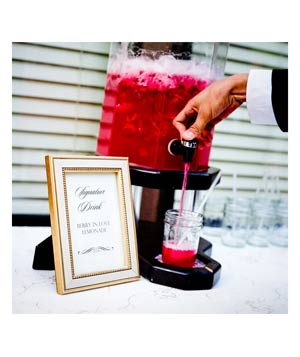 Wedding dispenser berry lemonade