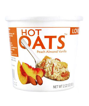 Love Grown Foods Peach Vanilla Almond Hot Oats