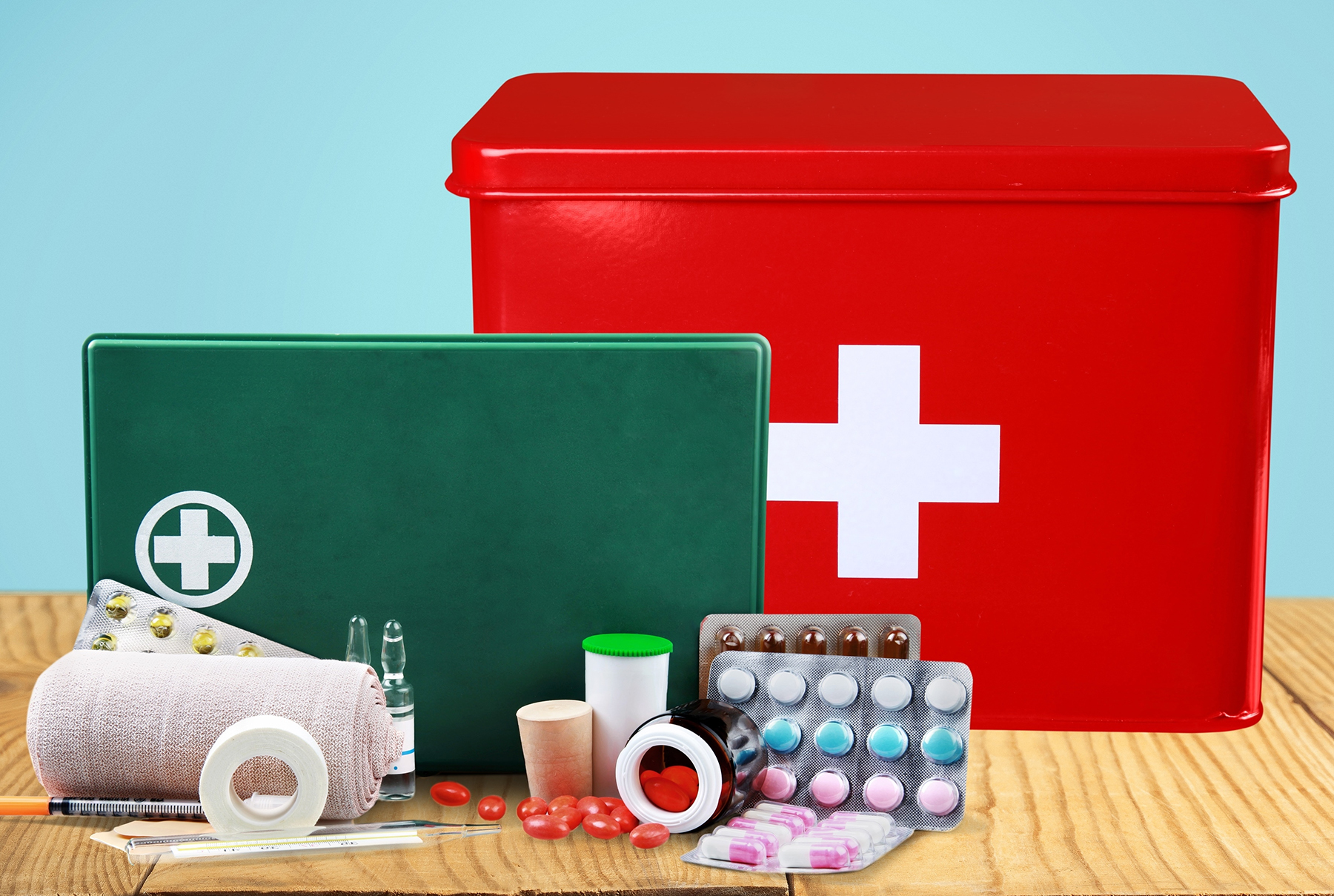 First Aid Kit and Medicine