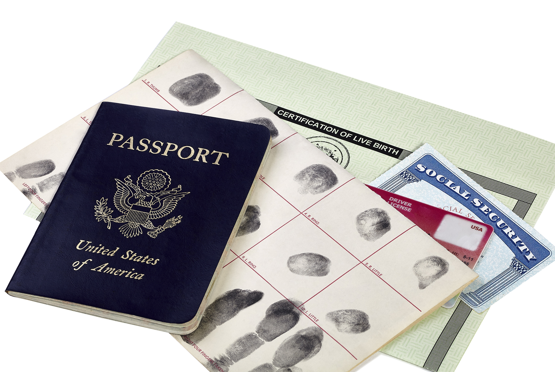 Passport, birth certificate