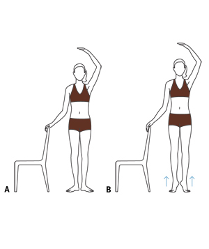 Ballet barre calf raises