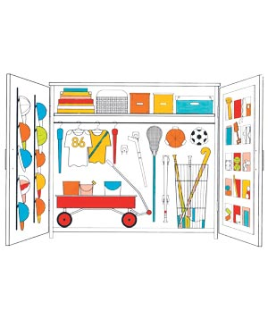 Illustration: sports and activities closet