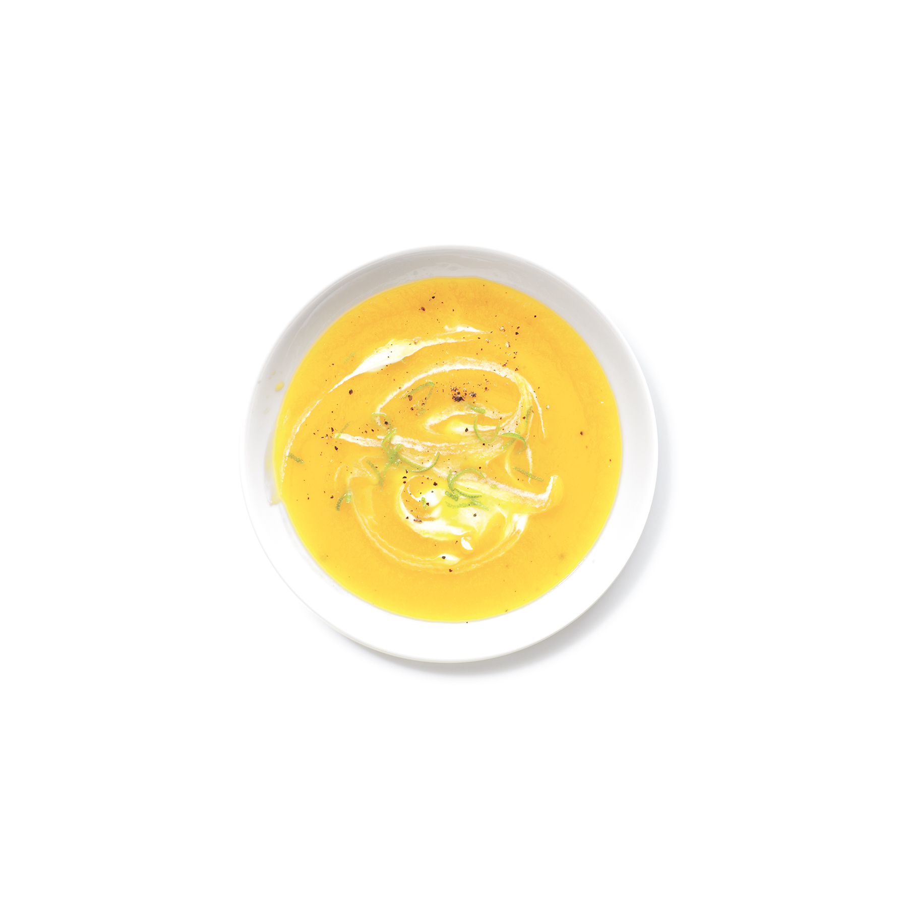 Creamy Butternut Squash and Parsnip Soup, one of Real Simple's great butternut squash recipes.