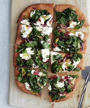 Swiss Chard and Ricotta Pizza