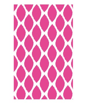 May Designs Notebook – Ikat Leaf Pink
