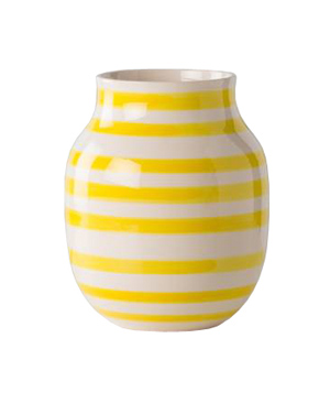 Yellow and White Omaggio Vase
