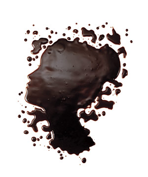 Chocolate splatter face