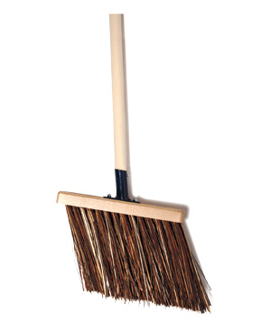 Angled-Bristle Outdoor Patio Broom