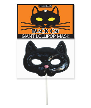 Melville Candy Company Black Cat Giant Lollipop Mask