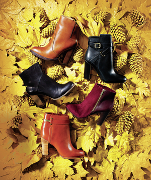 Stacked-heel booties