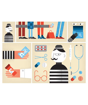 Illustration: medical identity theft