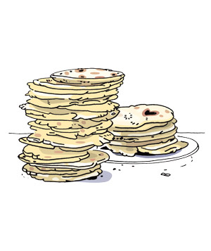Illustration of corn tortillas