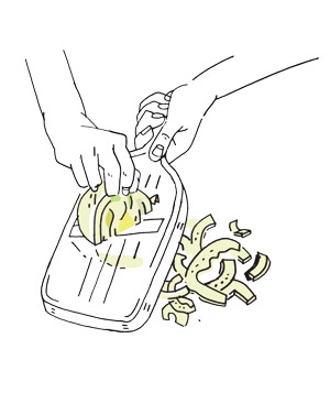 Illustration: how to prepare raw fennel