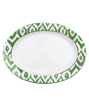Ikat Oval Serving Platter